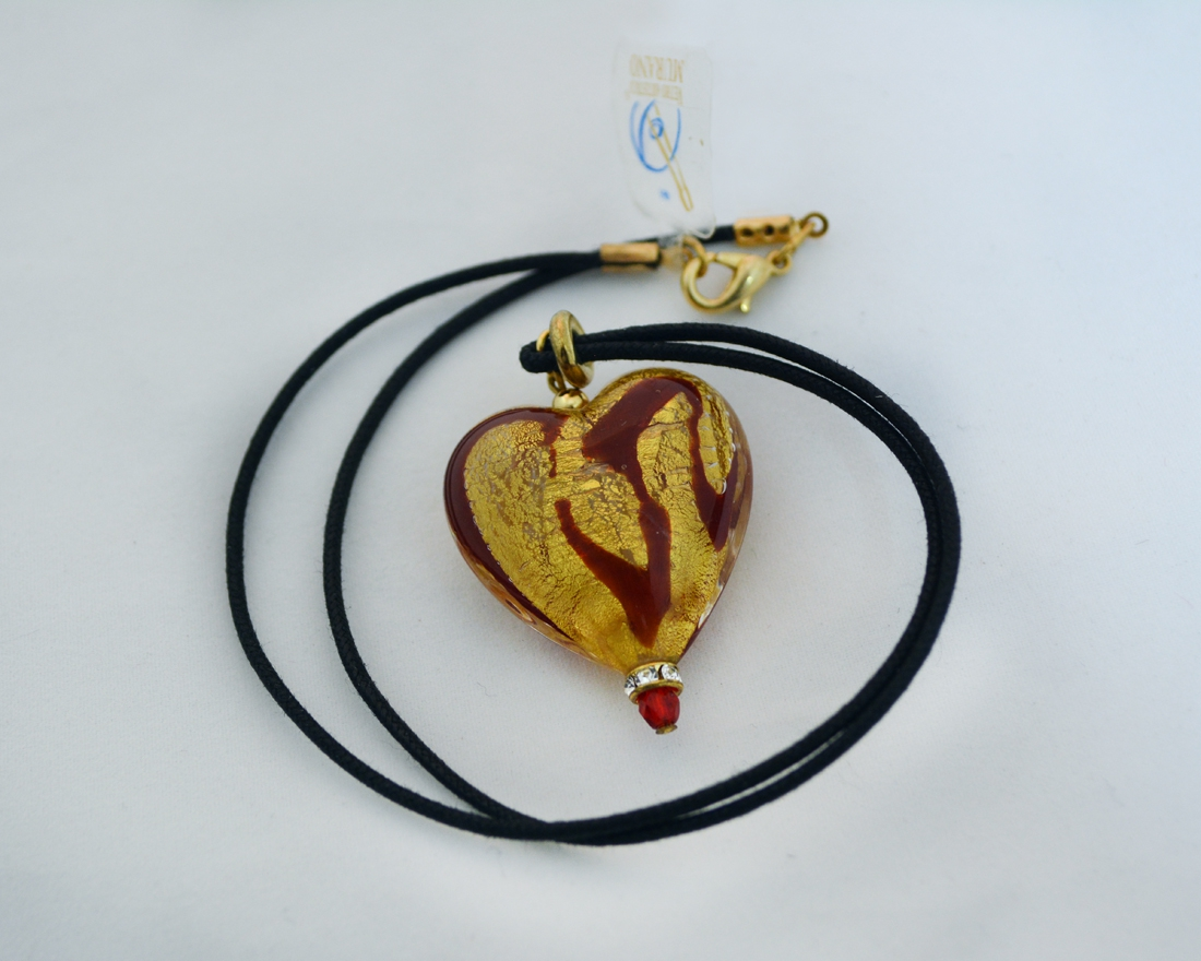 Red and Gold Heart pendant