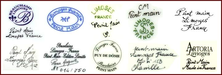Limoges marks and dates