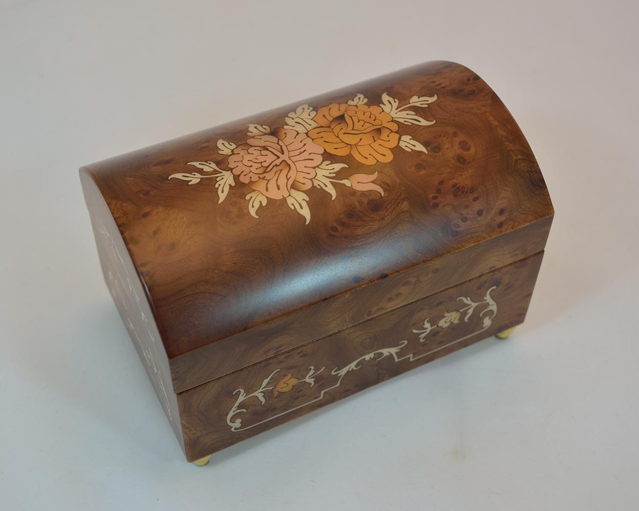 Matte Burl Music Jewelry Box