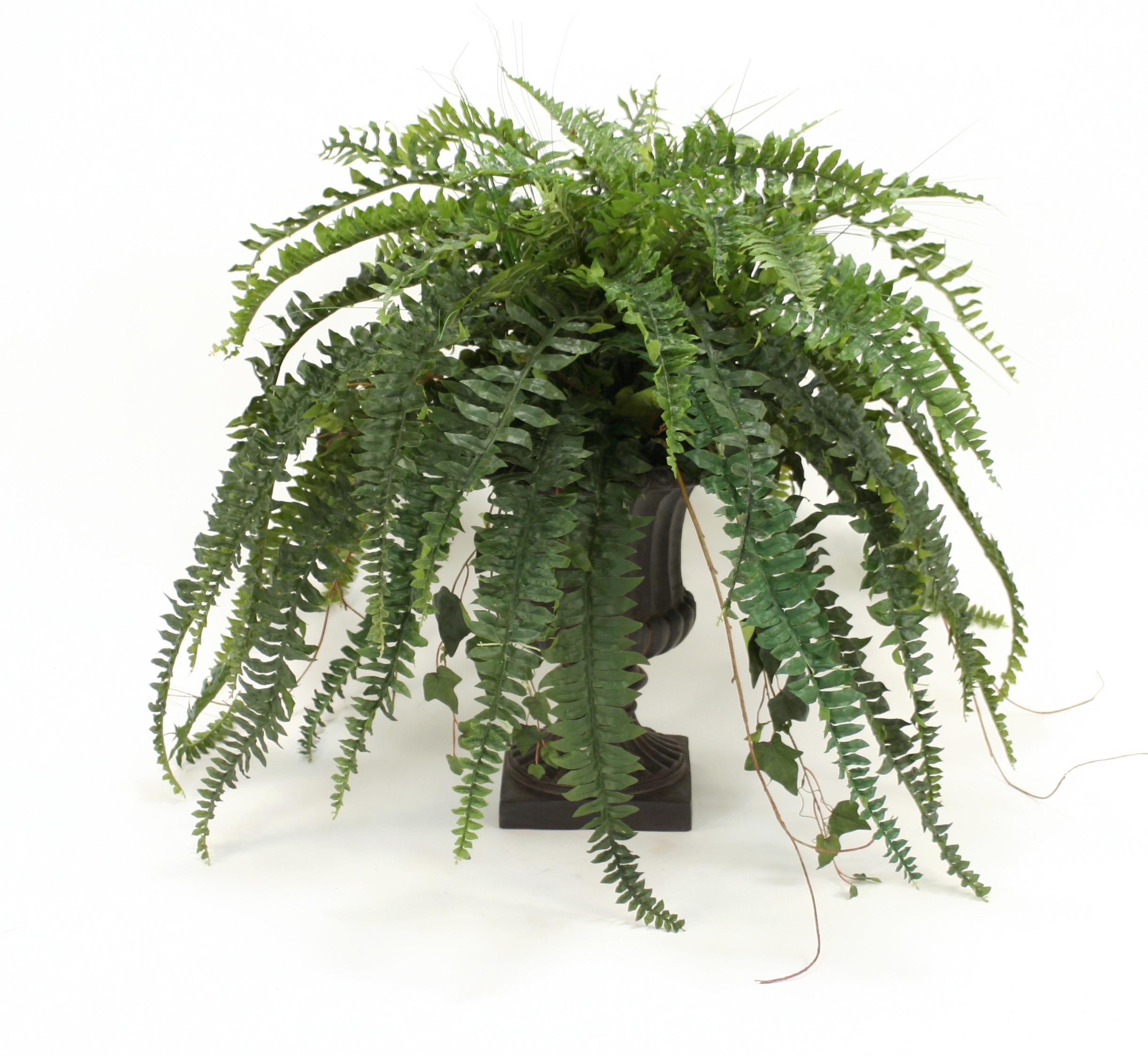 Silk boston fern ivy grass and twig branches in classic urn free silk boston fern ivy grass and twig branches in classic urn mightylinksfo