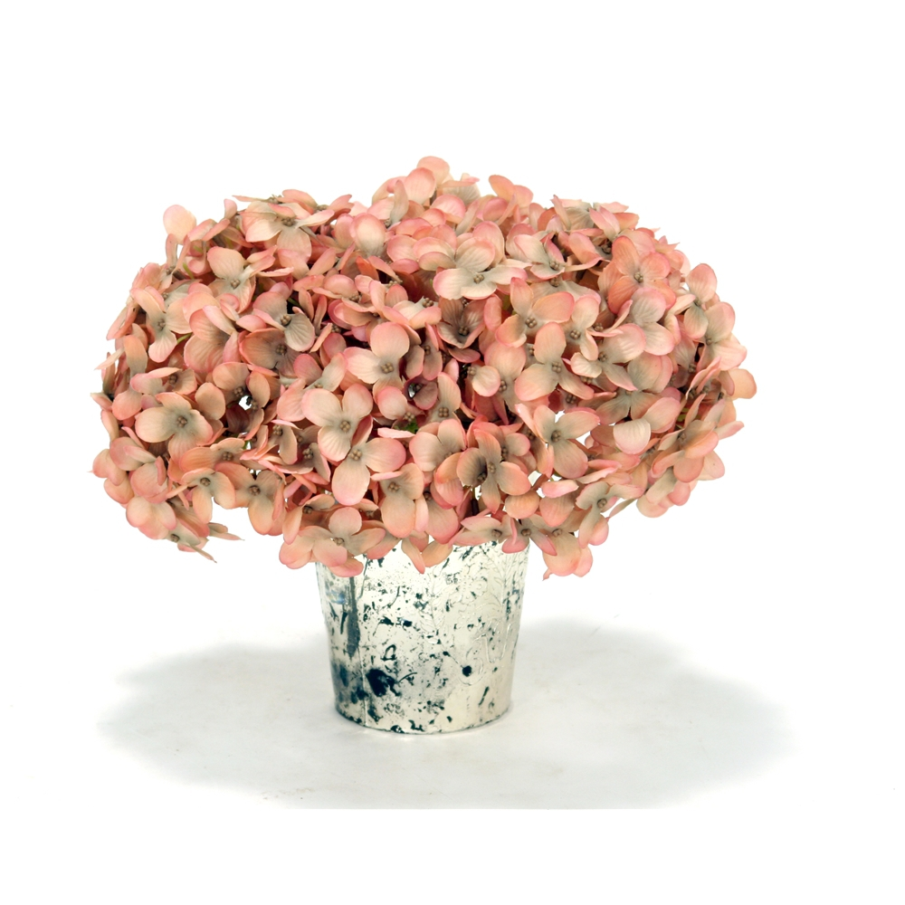 Pink hydrangea in mercury vase free shipping in usa 1001shops pink hydrangea in mercury vase reviewsmspy