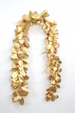 Garland - 96' Gold Laurel Leaf Natural Garland