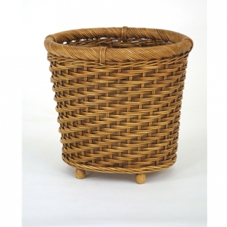 Decorative Footed Stained Finish Oval Basket