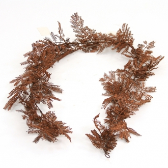 Garland - 6' Artificial Red-Brown Mimosa Garland x 60 Tips (Pack of 6; 36/cs)