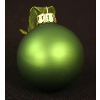 Ornament - 2.5' Frosted Green Glass Ball (Pack of 6; 72/cs)