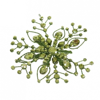 Ornament - 6' Green Jewel Snowflake