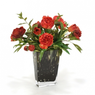 Waterlook ® Falls Tones of Spice and Rust in Glass Leopard Vase