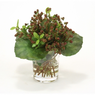 Waterlook ® Silk Vine Wrapped Berry Bouquet in a Glass Cylinder