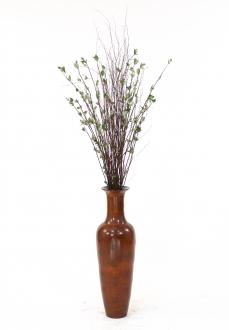 50 Silk Yucca Plant In Chocolate Pencil Rattan Floor Vase