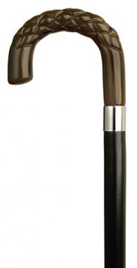 Men's Crook with Diamond Carving in Horn Color