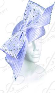 Structured Beret with Signature Rhinestone Bow