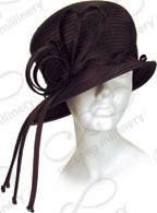 Bubble Cloche with Tassel Trim Church Hats