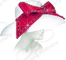 Rounded Crown Medium Brim with Large Signature Bow Church Hats