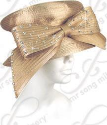 Year-Round Mushroom Crown with Signature Bow Church Hats