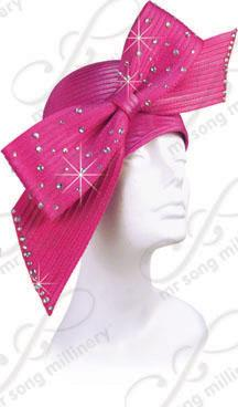 Year-Round Structured Beret with Signature Bow  Church Hats