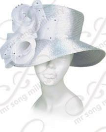Year-Round Wide brim Malene with Flower Accent Church Hats