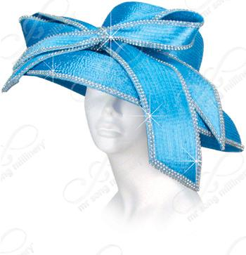 Year-Round Round Crown Turned Down Brim with Signature Bow Church Hats