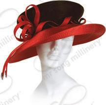 Year-Round Mushroom Topped Hat with Signature Curl Ties Church Hats