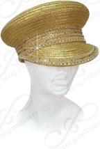 Year-Round Cap with Rhinestone Accent Church Hats