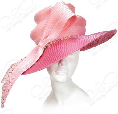 Two Tiered Hat with Signature Bow Church Hats