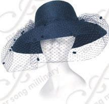 Veiled Rounded Medium Hat Church Hats