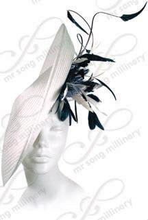 Profiled Hat with Feather Accent Church Hats