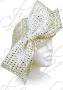 Complete Rhinestoned Hat with Signature Bow Church Hats