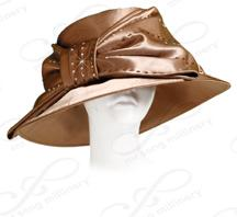 Sewn Satin Medium Brim with Large Bow Church Hats