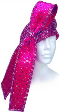 Year Round Cloche Covered with Rhinestones & Trimmed with Extra Large Double Flapper & Rhinestones Church Hats