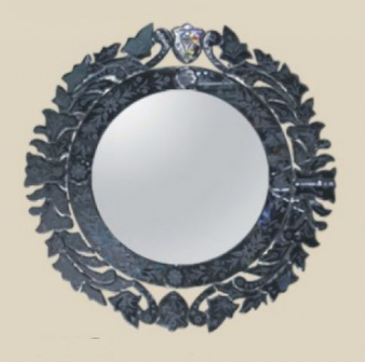 Round black venetian mirror 1001shops co for Black venetian mirror