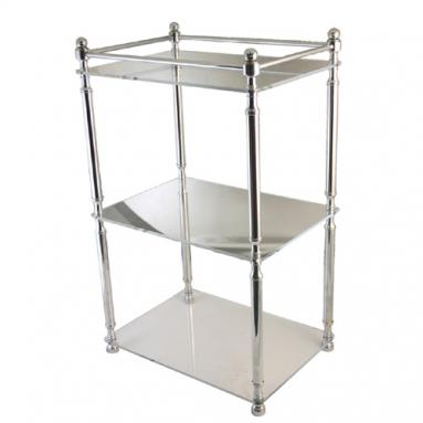 Retro-Wave 3 tier etagere with lucite shelves