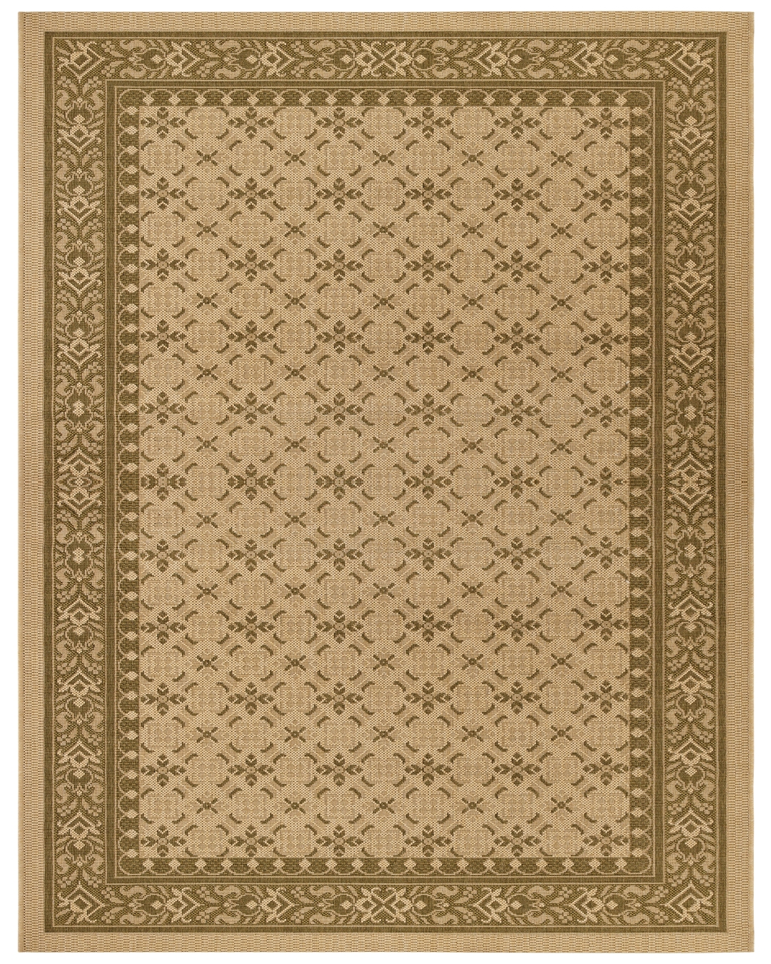 5 39 x8 39 murat outdoor rug cream green 1001shops co for Green and cream rugs