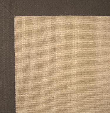 5' x 8' EUPHRATES Jute Micro Boucle w/chocolate cotton border