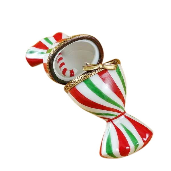 Christmas candy with removable candy cane