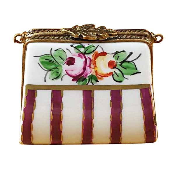 RED PURSE W/FLOWERS