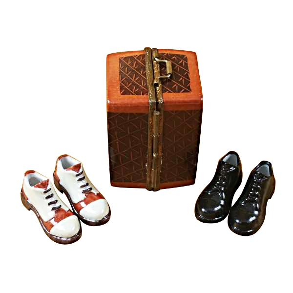 TRUNK W/2 PAIR MENS SHOES