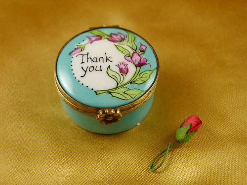 THANK YOU - ROUND WITH REMOVABLE ROSE