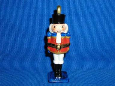 Nutcracker on flat blue base