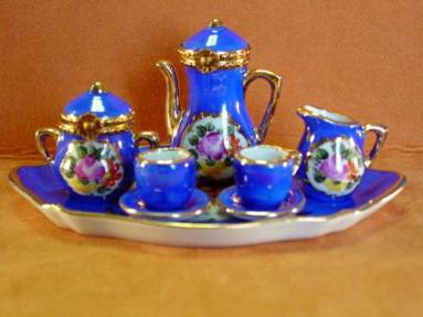 COBALT BLUE 8 PIECE TEA SET