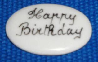 HAPPY BIRTHDAY FILLER - PRICE CODE IS FOR TWO PIECES