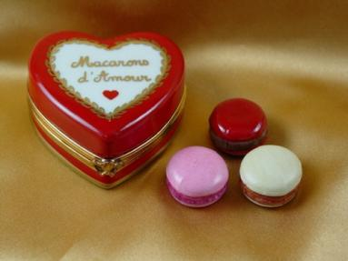 Heart with three macarons