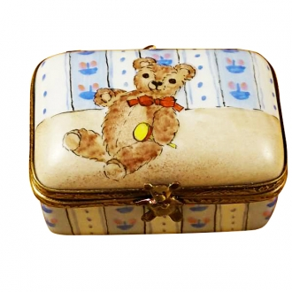 RECTANGLE BOX W/ TEDDY BEAR
