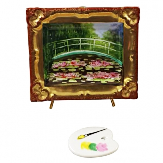MONET'S JAPANESE FOOTBRIDGE INSIDE FRAME WITH REMOVABLE PALLETE