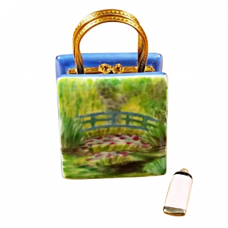 MONET BAG WITH BRIDGE AND WATER LILY INCLUDES REMOVABLE PAINT TUBE