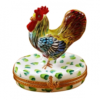 ROOSTER ON WHITE BASE