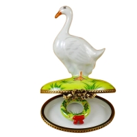 Goose with Christmas wreath