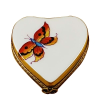 Heart-butterfly on gold base