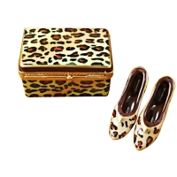 LEOPARD SHOE BOX W/SHOES