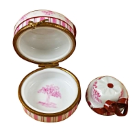PINK TOILE HAT BOX