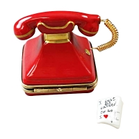 RED TELEPHONE WITH LETTER